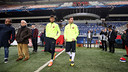 Neymar Jr and Leo Messi try out the pitch at the Amsterdam Arena / PHOTO: MIGUEL RUIZ - FCB