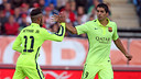 Neymar Jr and Luis Suárez combined nicely on the tying goal / PHOTO: MIGUEL RUIZ-FCB
