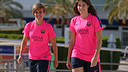 Vicky and Sonia at the Ciutat Esportiva / PHOTO: MIGUEL RUIZ - FCB