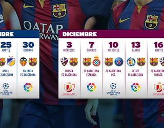 Fotomontagem do calendário FCB até o fim de 2014.