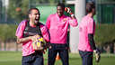 Alves was among the players that trained on Thursday / PHOTO: GERMÁN PARGA-FCB