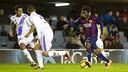 Dongou against Numància  earlier this season/  FCB ARCHIVE
