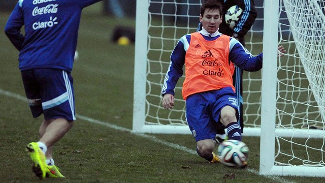 Leo Messi during training with Argentina / PHOTO: www.afa.org.ar
