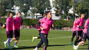 The team trained this morning ahead of the match against Sevilla CF / MIGUEL RUIZ-FCB
