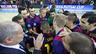 Os craques do Futsal FCB celebram a classificação para a Final Four