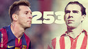 Messi a atteint les 253 buts. PHOTOMONTAGE FCB