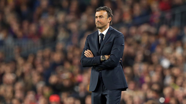 Luis Enrique watched in awe as Messi made history once again / PHOTO: MIGUEL RUIZ - FCB