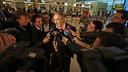 Zubizarreta, atendiendo a los medios / FOTO: MIGUEL RUIZ-FCB