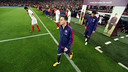 Messi coming out on to the field / PHOTO: MIGUEL RUIZ-FCB