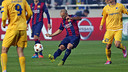 Mascherano led the team in passes on Tuesday night / PHOTO: MIGUEL RUIZ-FCB