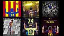 Homenatge dels aficionats a Messi