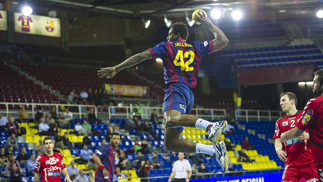 Jallouz, scorer of 5 goals, about to strike / PHOTO: VÍCTOR SALGADO-FCB