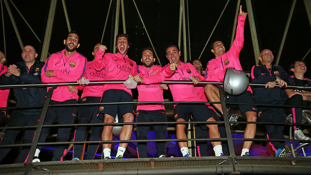 A group of players during the morning of karting/ PHOTO: MIGUEL RUIZ - FCB