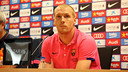 Jérémy Mathieu during the press conference on Friday / PHOTO: MIGUEL RUIZ - FCB
