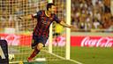 Leo Messi va fer un hat-trick la temporada passada en la victòria per 2 gols a 3 a Mestalla