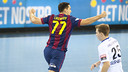 Lazarov scored 12 times at the Palau / PHOTO: VÍCTOR SALGADO-FCB