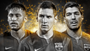 Neymar, Messi et Luis Suárez / FIFA