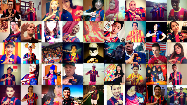 Collection of images posted on Instagram with the hashtag #FCB115 / FCB PHOTOCOLLAGE