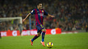 Pedro on the field at Camp Nou / PHOTO: VÍCTOR SALGADO - FCB