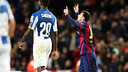 Leo Messi celebrant el primer gol / FOTO: MIGUEL RUIZ