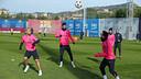 El Barça s'ha entrenat per començar a preparar el partit contra el PSG / FOTO: MIGUEL RUIZ - FCB