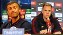 Luis Enrique and Ter Stegen during a press conference / FCB