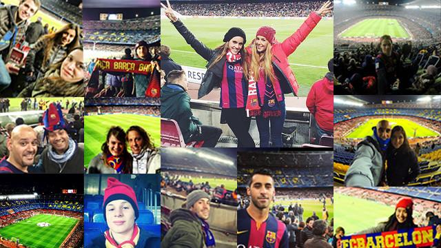 Instagramers at FCB v PSG
