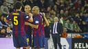 Ferrao's goal was something to celebrate / PHOTO: VICTOR SALGADO - FCB