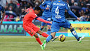 Pedro lors d'une action du match / PHOTO: MIGUEL RUIZ-FCB