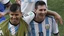 Agüero and Messi with the Argentine national side . PHOTO: FACEBOOK LEO MESSI.
