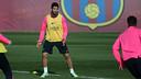 Luis Suárez, en el entrenamiento de este jueves en la Ciudad Deportiva / FOTO: MIGUEL RUIZ - FCB
