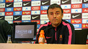 Luis Enrique at the press conference on Friday. PHOTO: MIGUEL RUIZ-FCB.