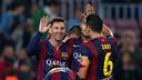 Messi celebra uno de los goles marcados al Córdoba / FOTO: MIGUEL RUIZ - FCB