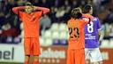 Gumbau y Halilovic lamentan una acción del partido / FOTO: LFP