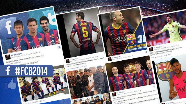 FC Barcelona's Facebook account was well-liked in 2014