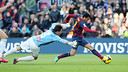 Pedro started 2014 with a fine goal against Elche / PHOTO: MIGUEL RUIZ - FCB