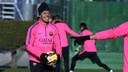 Adriano is back after his Xmas break / PHOTO: MIGUEL RUIZ - FCB