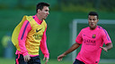 Messi and Rafinha both missed Monday's training / PHOTO: ARCHIVE FCB