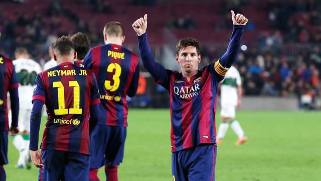 Barcelona flying high thanks to record-breaking Messi - Al Arabiya ...