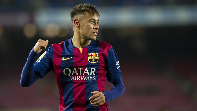 Neymar Jr ha marcat dos gols contra l'Elx en l'anada de vuitens de final de Copa del Rei