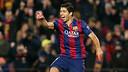 Luis Suárez scores the second goal against Atlético Madrid / PHOTO: MIGUEL RUIZ - FCB