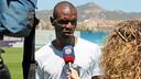 Éric Abidal talking to Barça TV in an archive photo / PHOTO: MIGUEL RUIZ-FCB.
