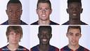 TOP: Adama, Gumbau, Edgar Ié; BOTTOM: Halilovic, Diagne, Munir / FCB Archive
