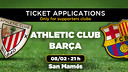 Athletic Club - FC Barcelona, tickets on January 26