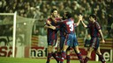 In the 1995/96 semifinals against Espanyol, Barça won the second leg 3–2 in Sarrià. PHOTO: FCB ARCHIVE