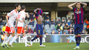 Barça B fell to an agonising defeat on Sunday at the hands of Osasuna. PHOTO: VÍCTOR SALGADO-FCB.
