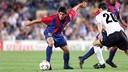 Riquelme played at Barça for one season, scoring six goals. PHOTO: FCB Archive