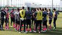 La Nike Academy, a la Ciutat Esportiva. FOTO: MIGUEL RUIZ-FCB.