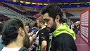 Los azulgranas hablando con los medios informativos en Doha / FOTO:FCB