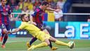 Messi, en pleine action au Madrigal. PHOTO: MIGUEL RUIZ - FCB